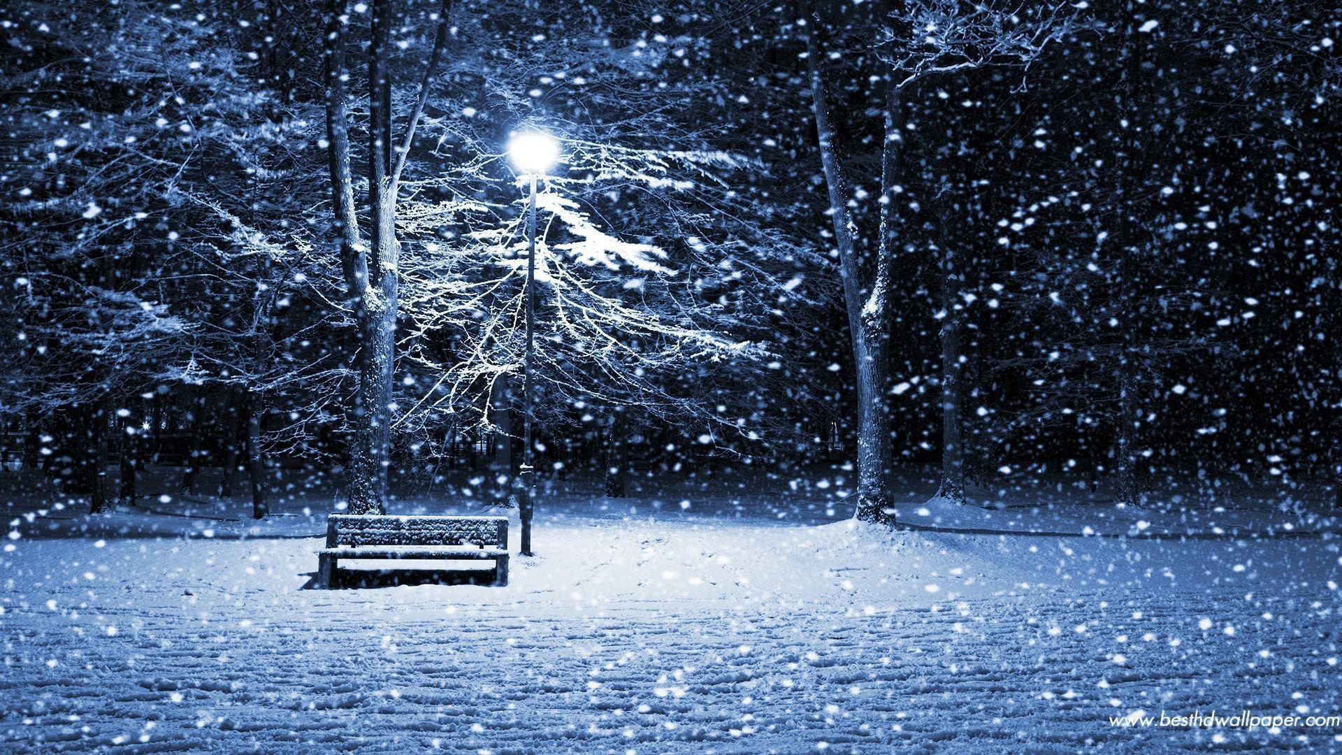 Image For > Christmas Snow Scenes Wallpapers