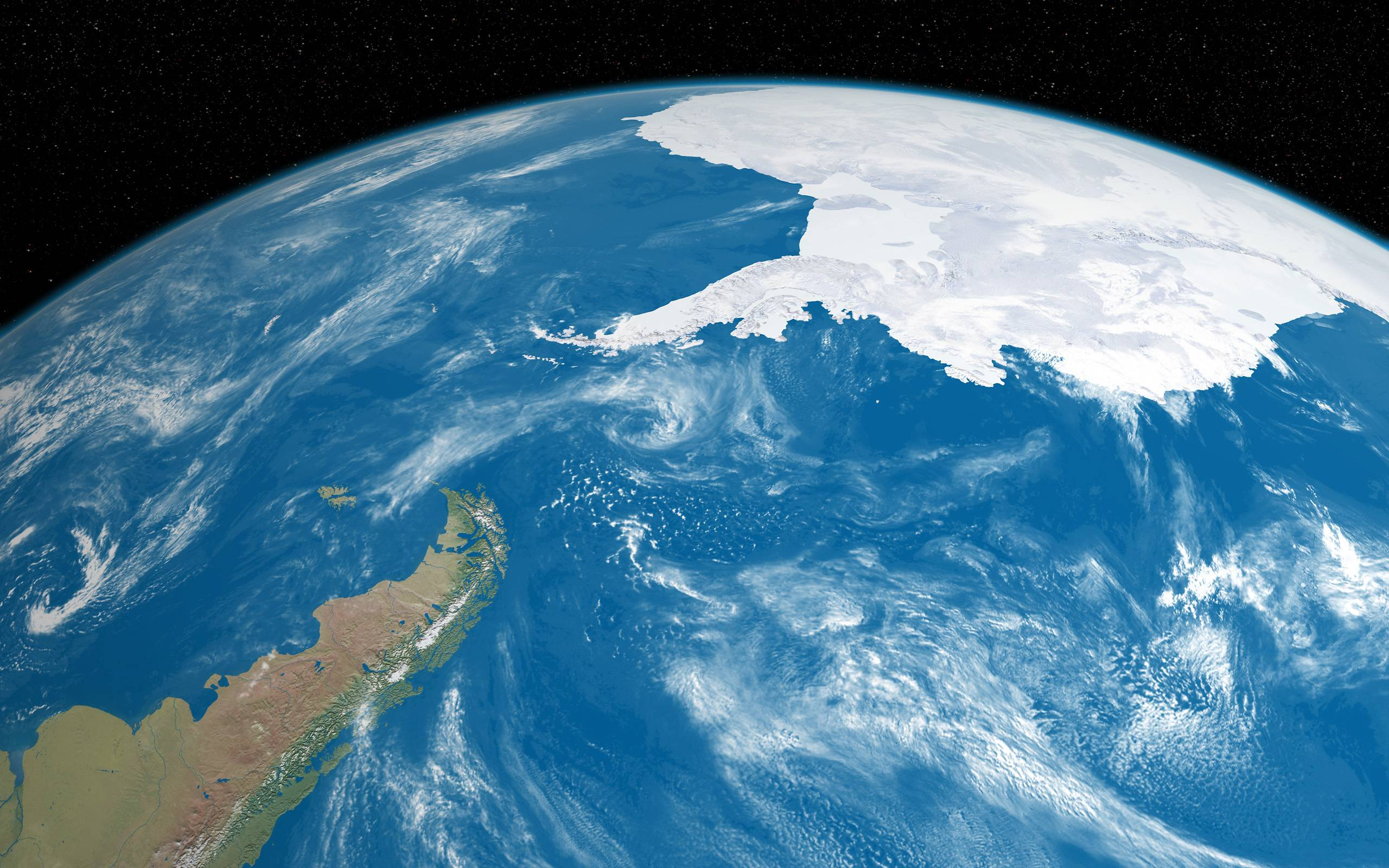 Antarctica Continent from Space Wallpapers Wide or HD