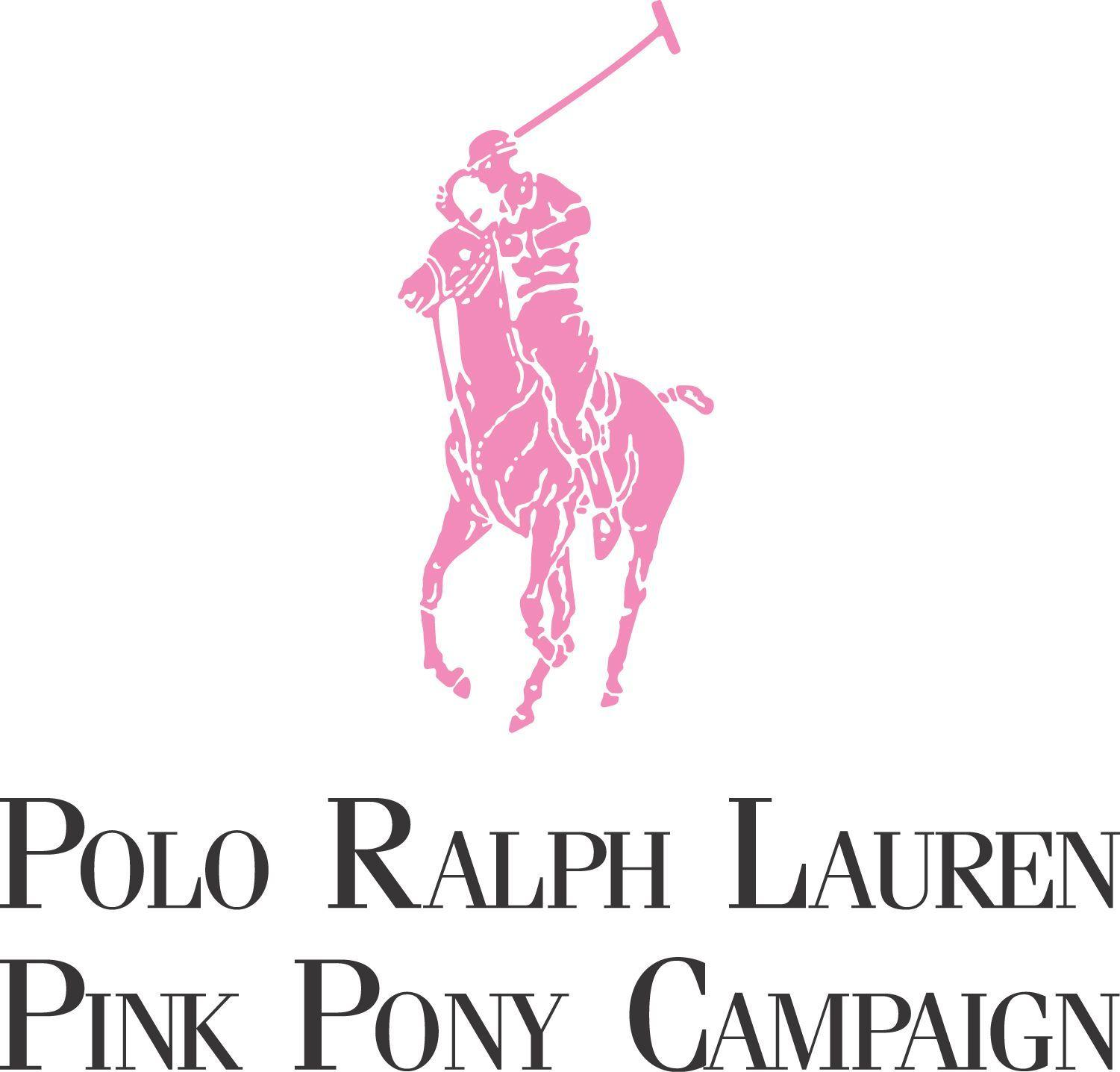 Image For > Ralph Lauren Logo Pink