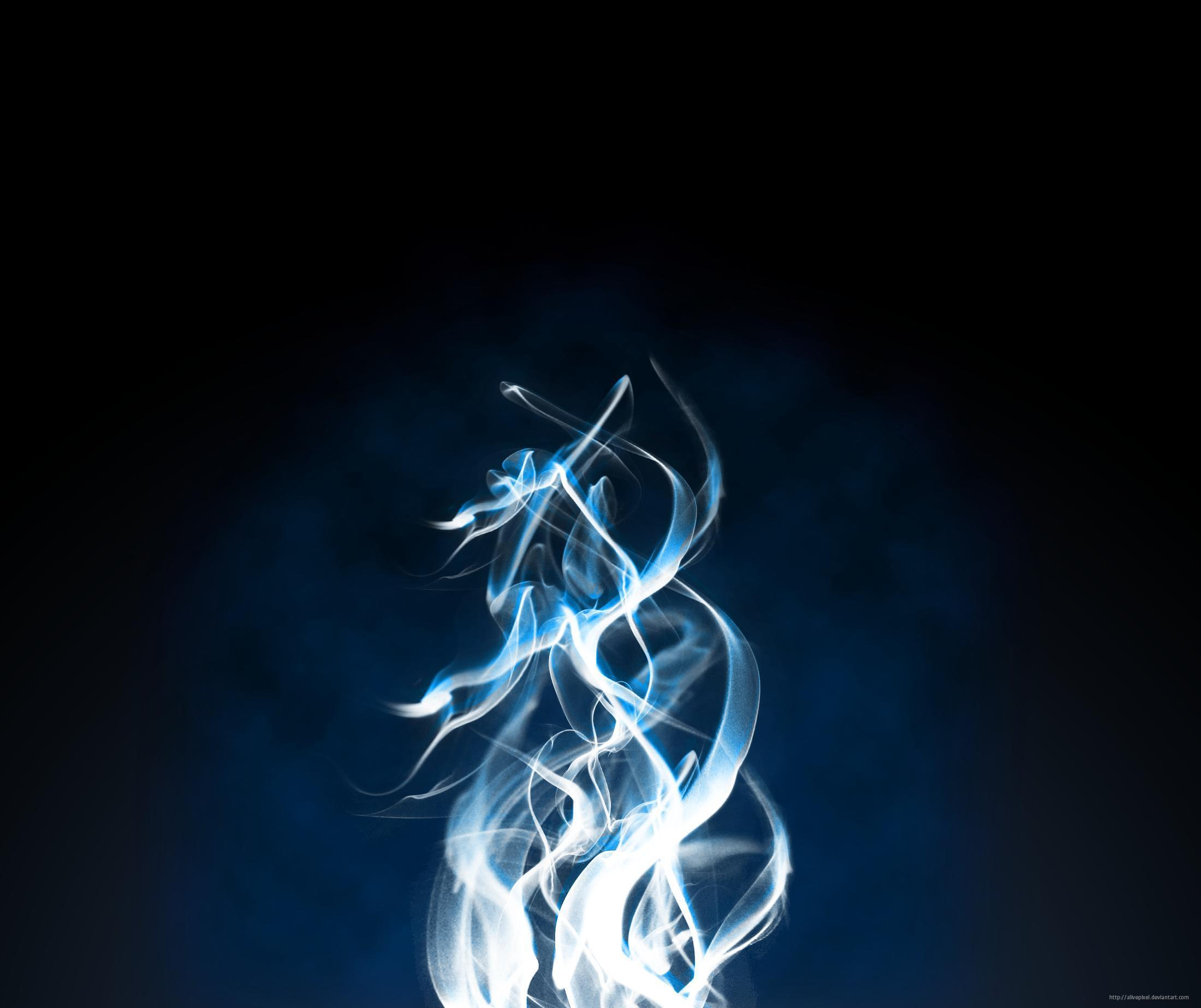 Wallpapers For Blue Fire Background Wallpaper