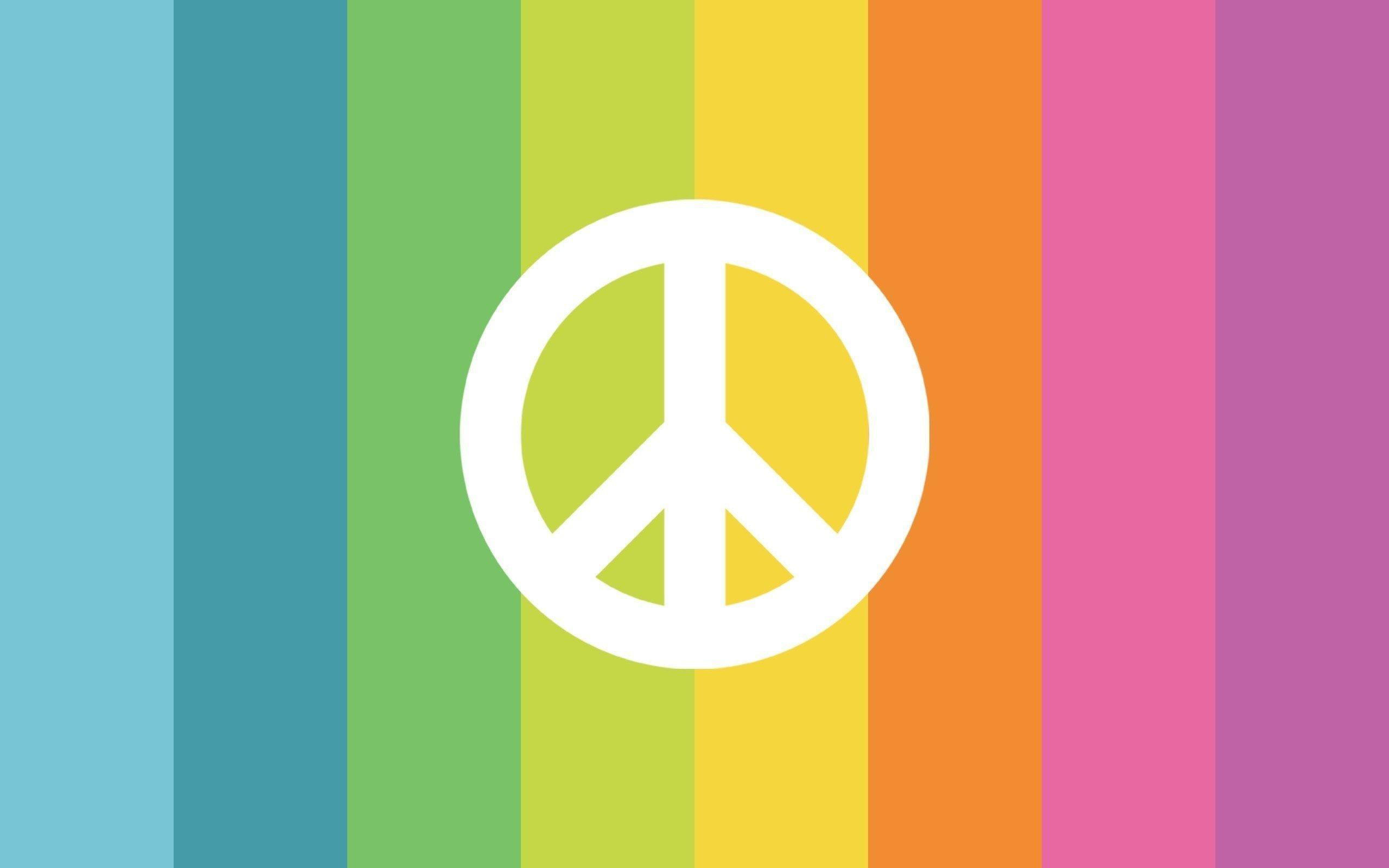 Peace and Love Sign Rainbow Creative HD Wallpapers Desktop