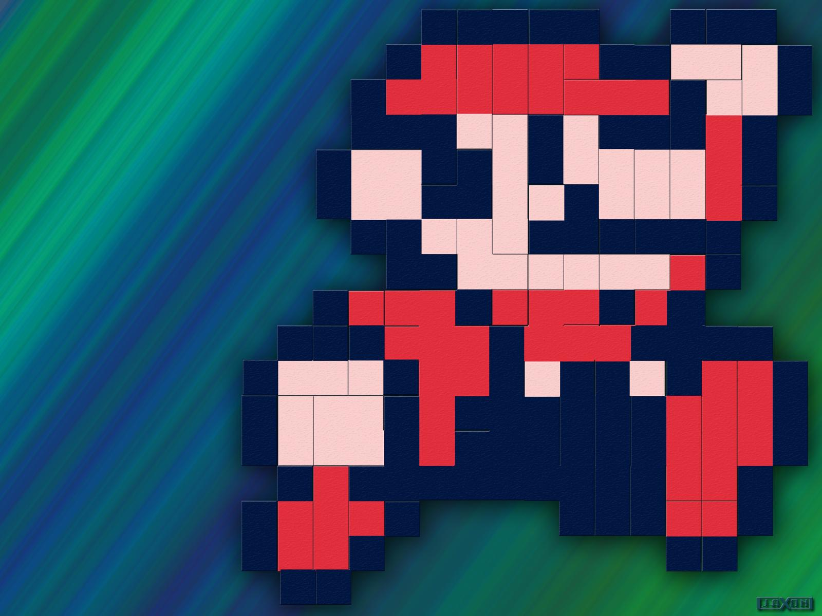 DeviantArt: More Like 8 Bit Mario Wallpaper by JayJaxon