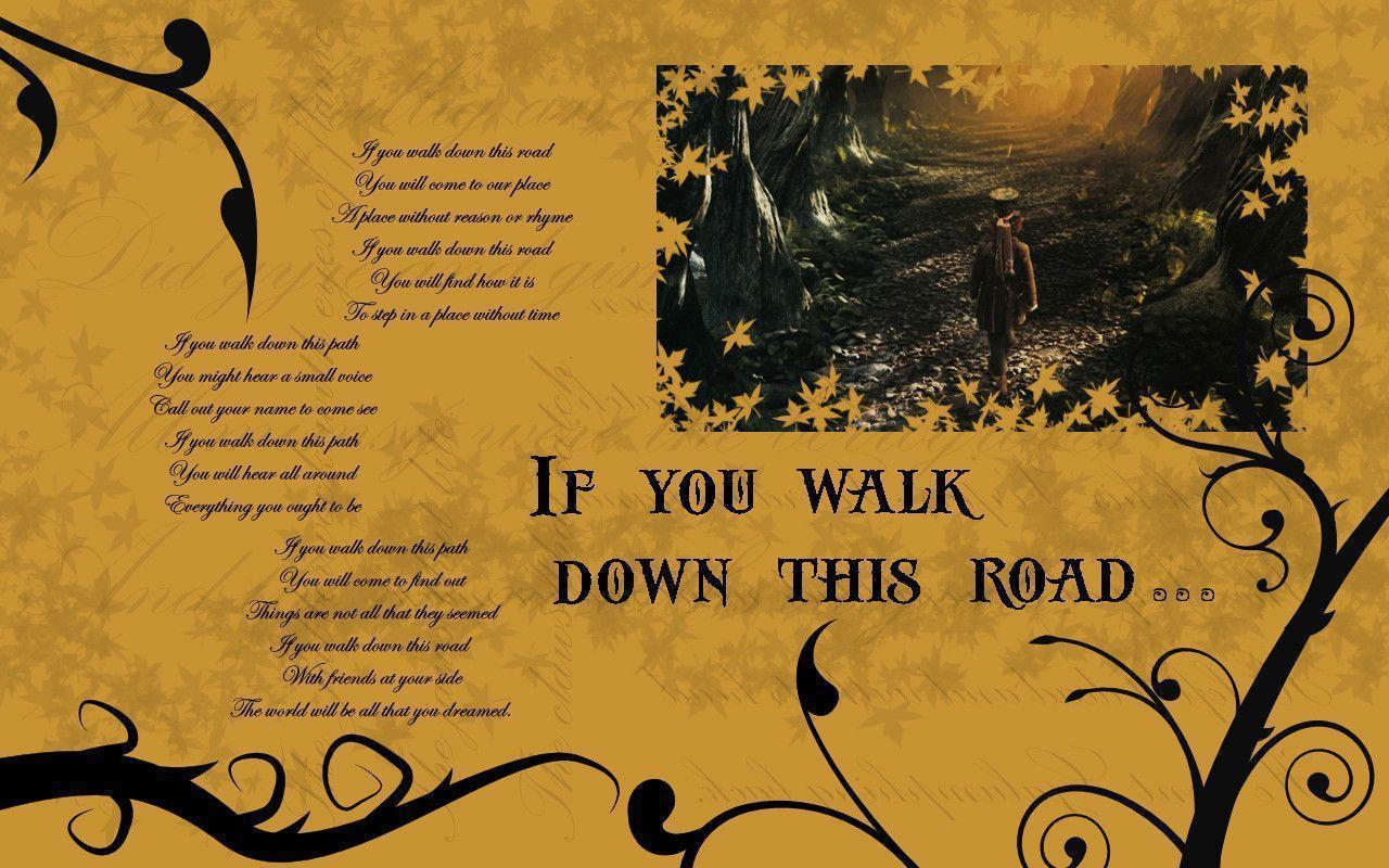 Alice in Wonderland Wallpaper - If You Walk Down This Road - Alice ...