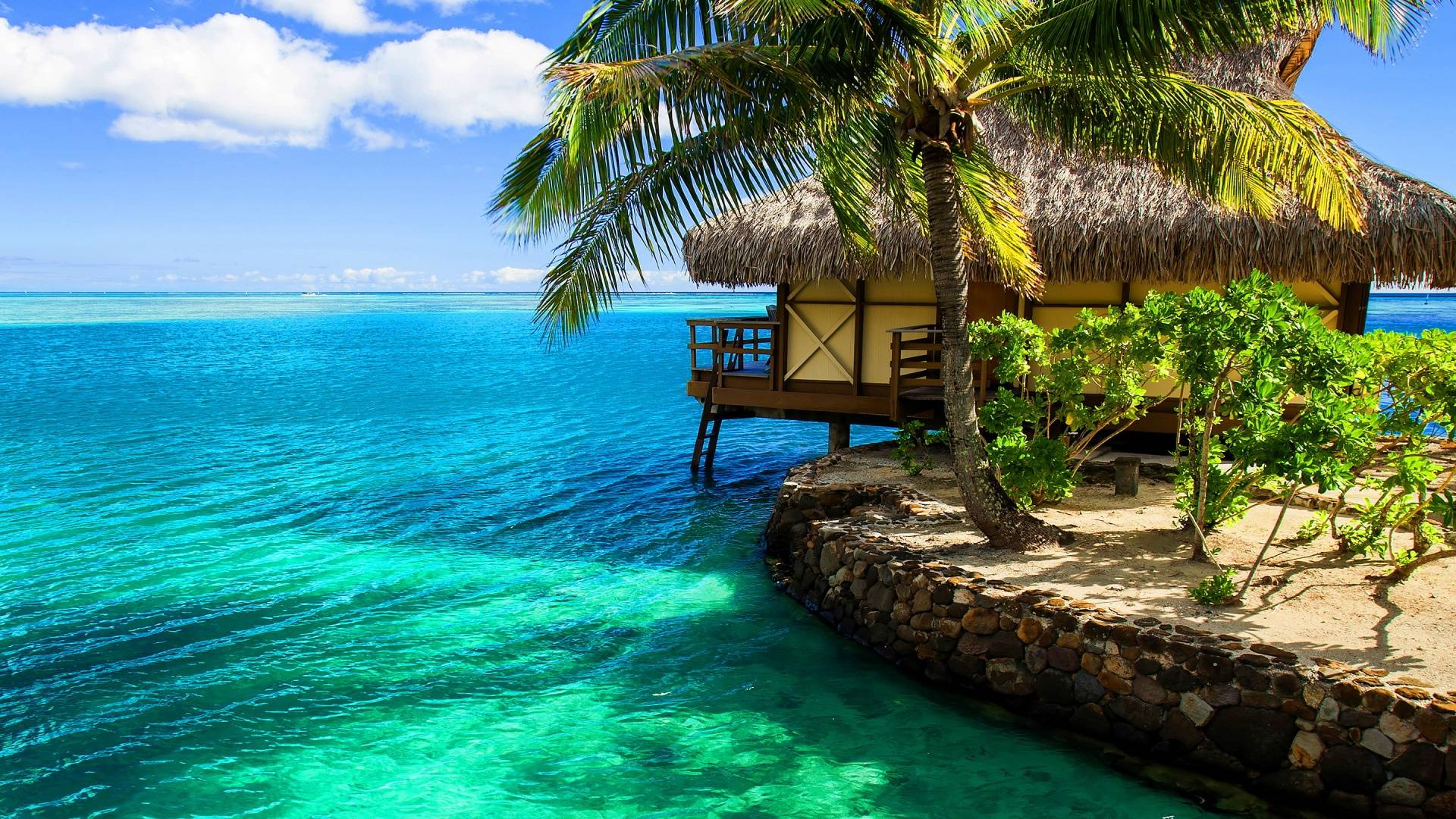 Bungalow wallpapers wallpaper cave for Beach wallpaper 1920x1080