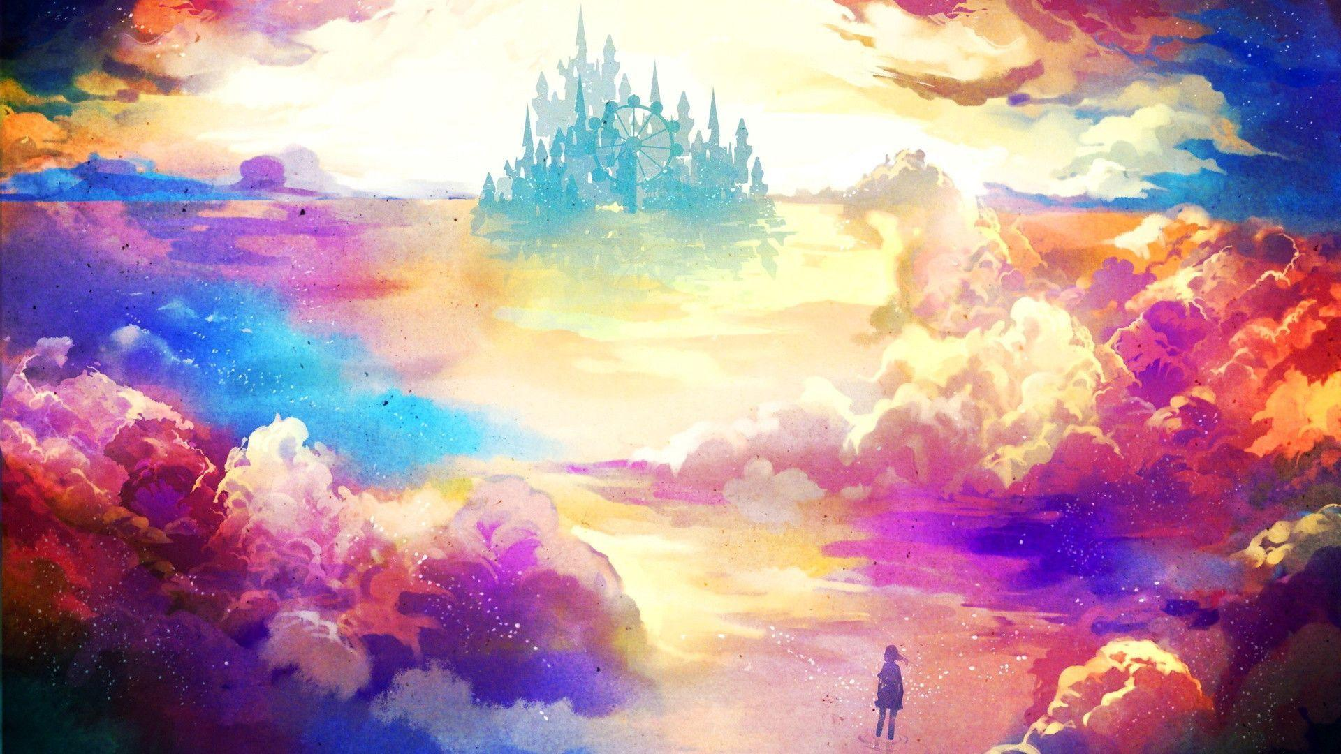 Colourful Fantasy Cloud Backgrounds: Fantasy World Wallpapers