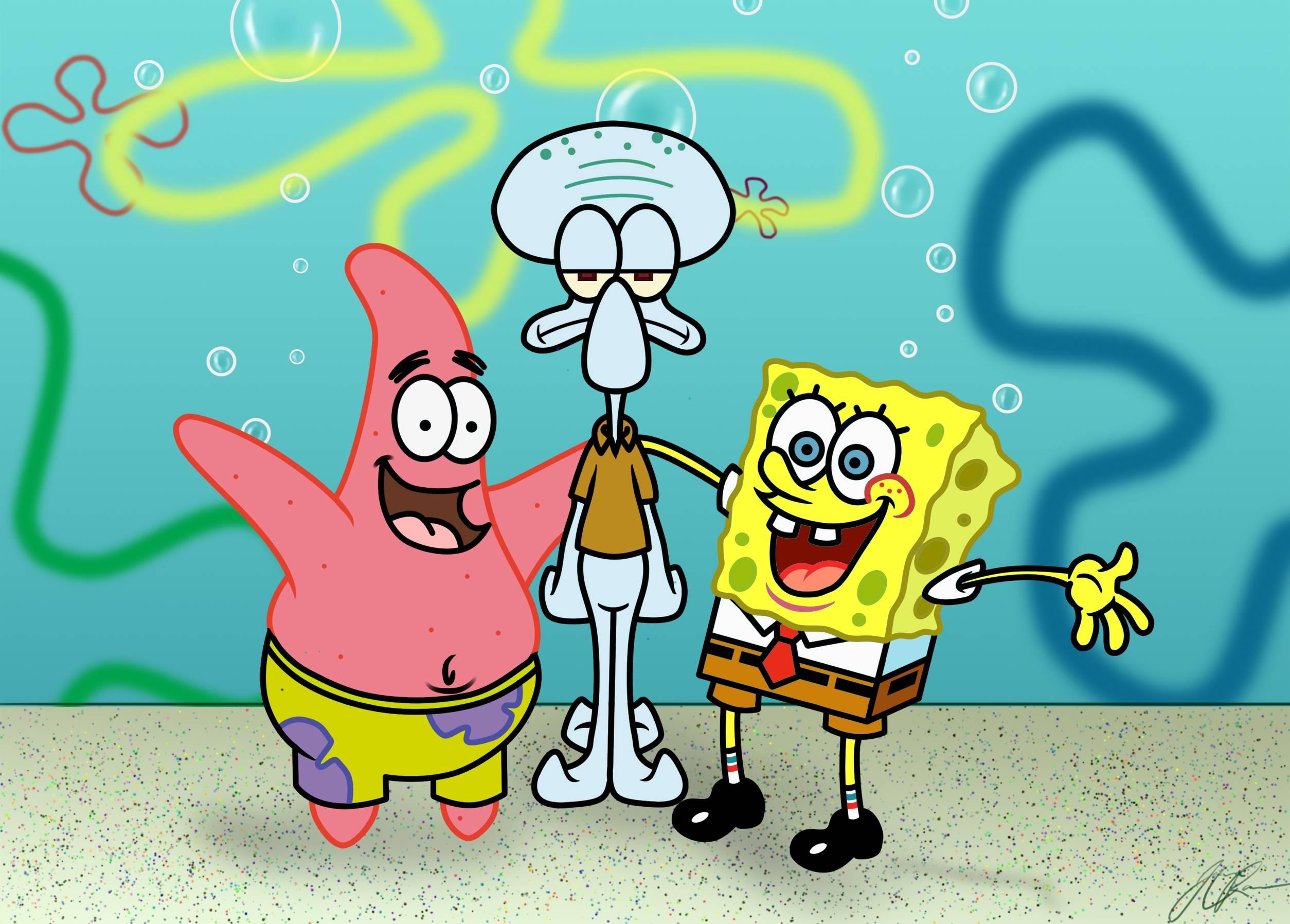 spongebob squarepants wallpaper for android