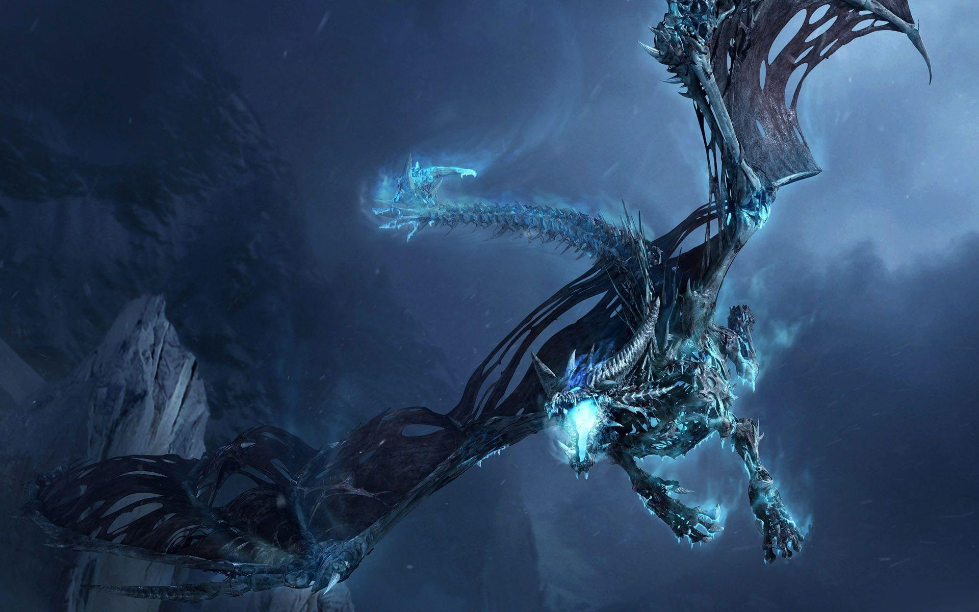 Wallpapers For > Cool Blue Dragon Wallpapers