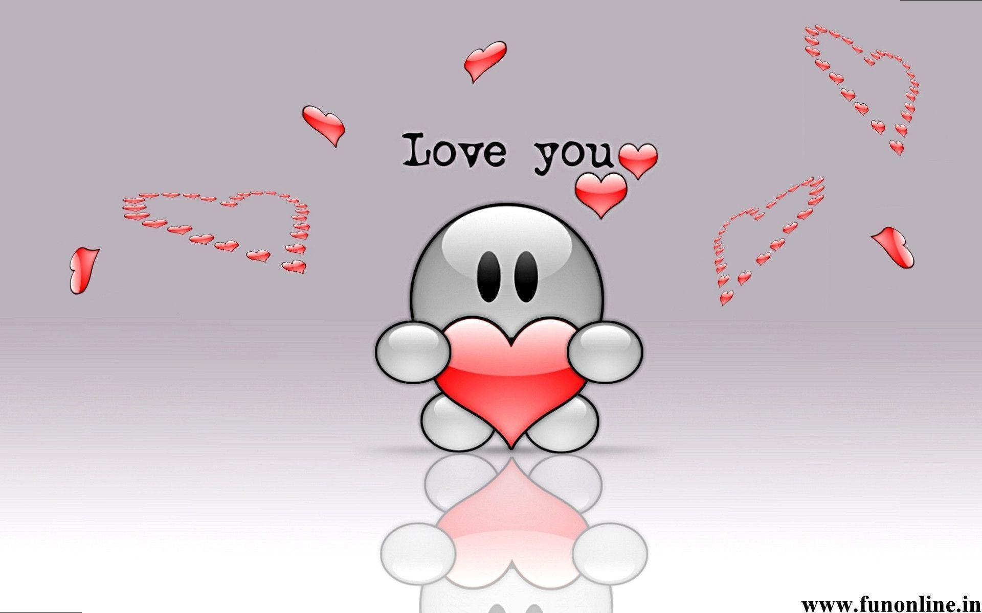Animated Funny Love Wallpaper for Desktop | BestWallFun