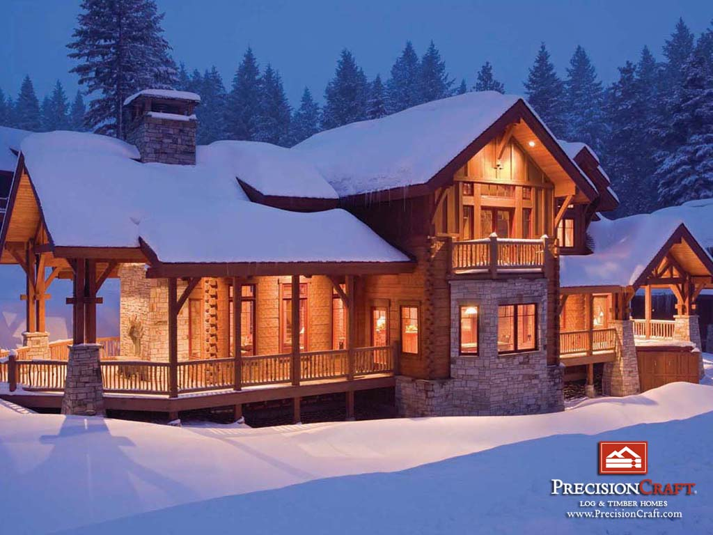 Log cabin wallpapers wallpaper cave for Large luxury log homes