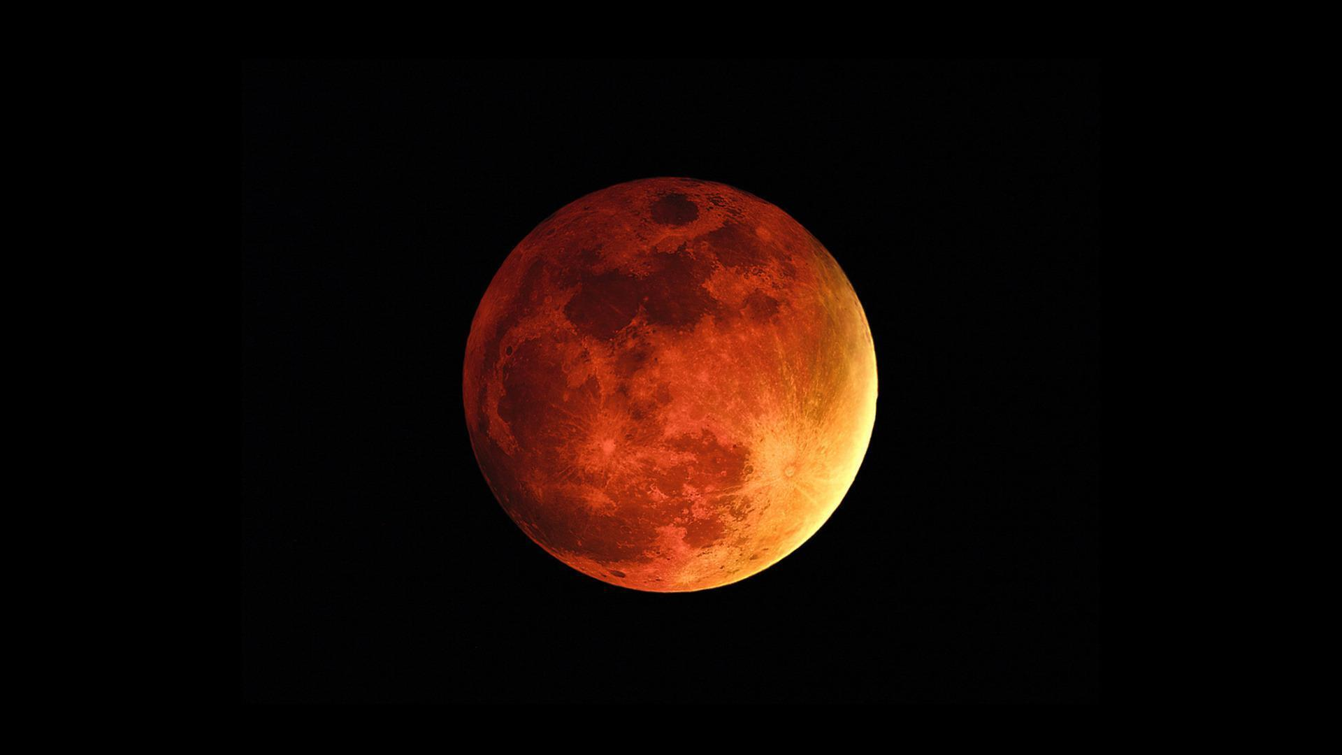 Red Moon Wallpaper Wide Or HD