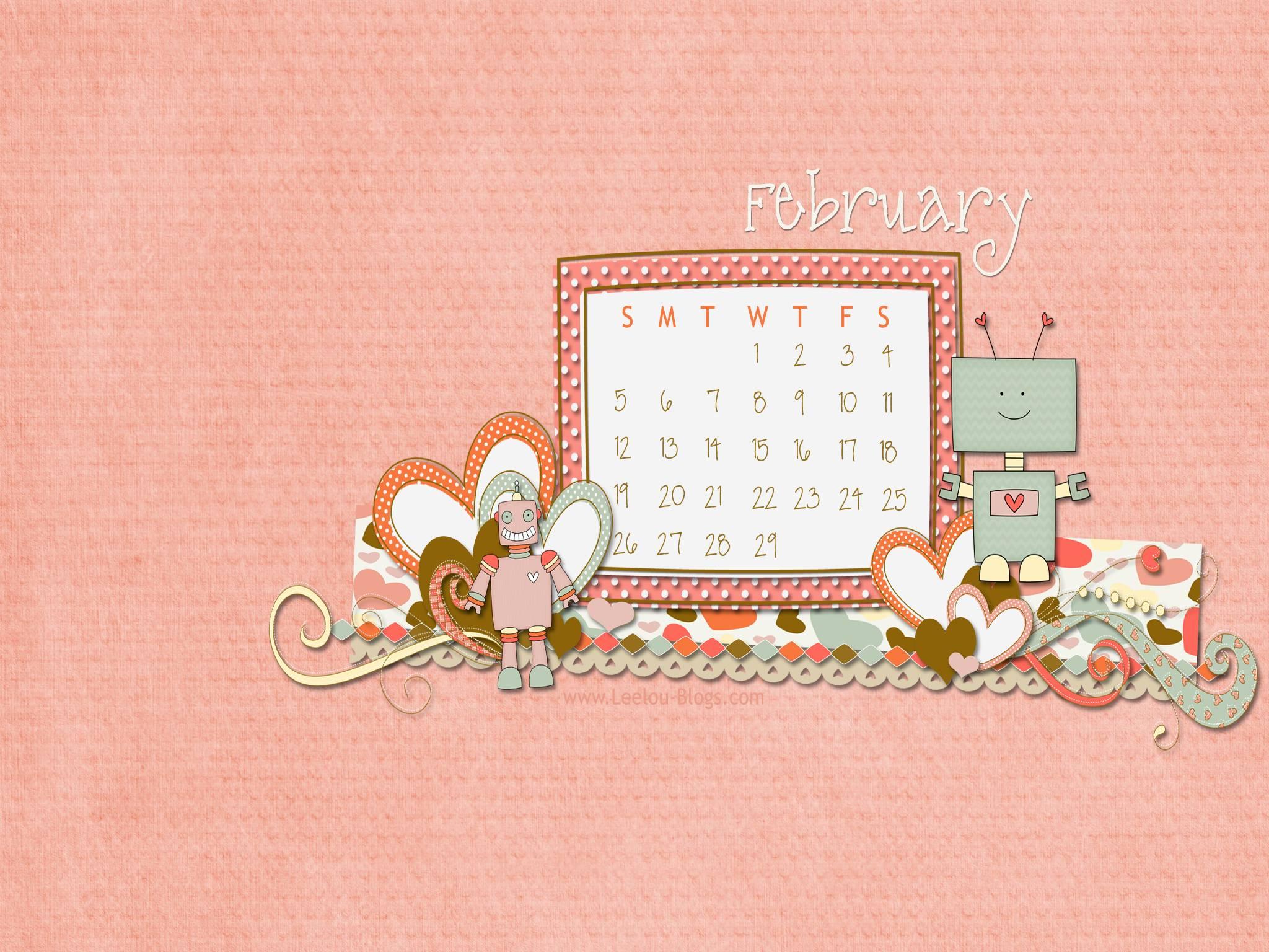 Calendar Wallpaper Quilling : February desktop wallpapers wallpaper cave