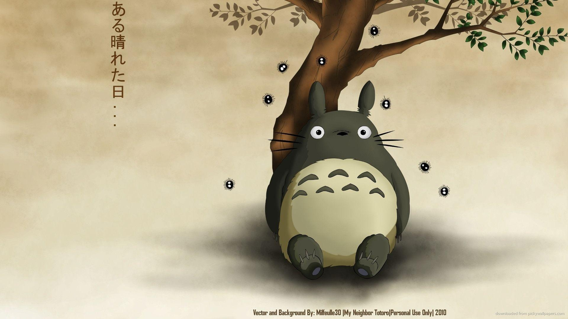 My Neighbor Totoro Under The Tree Wallpaper For IPhone 4