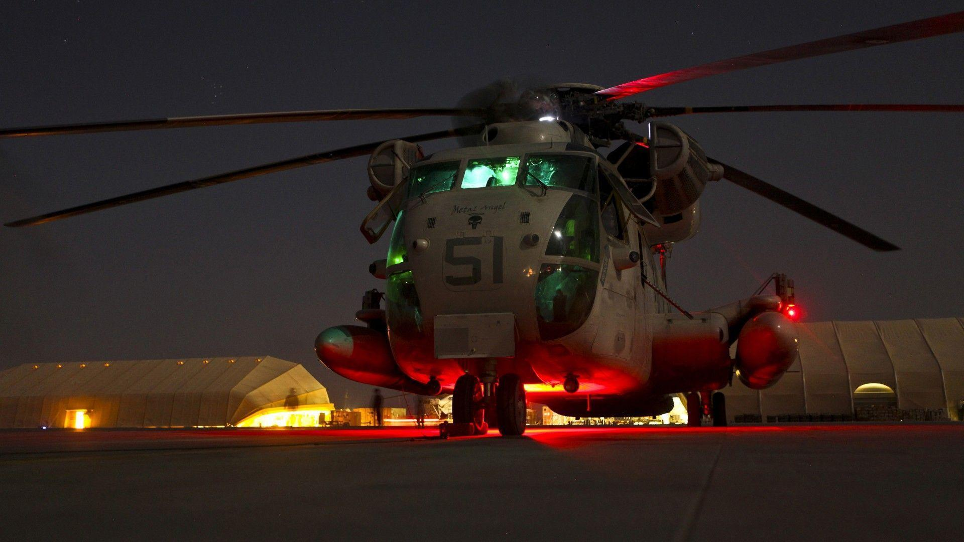 Night Helicopter Marine Corps United States Wallpapers