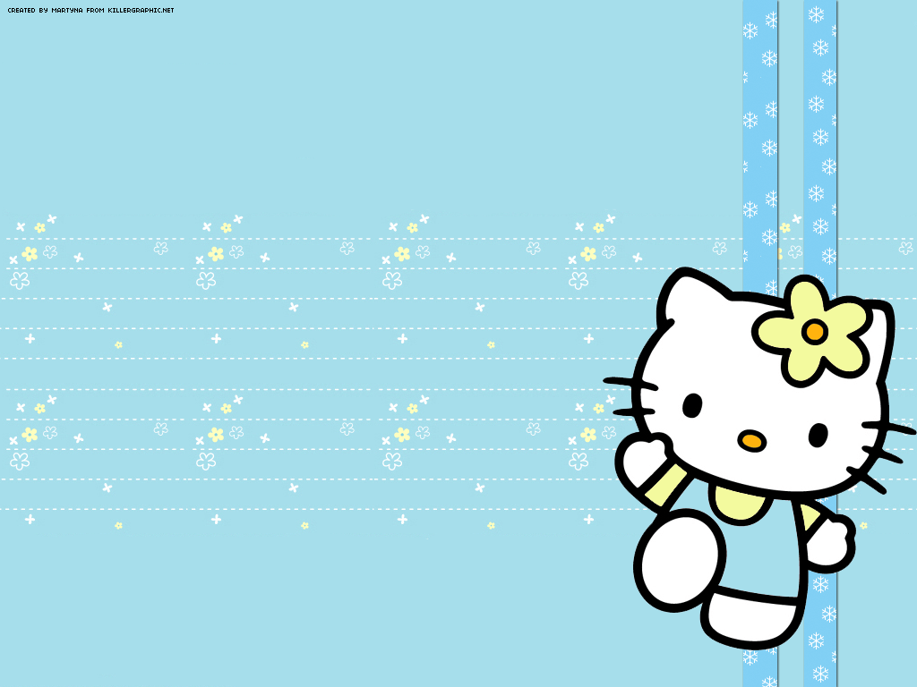 Blue Hello Kitty Wallpapers Wallpaper Cave