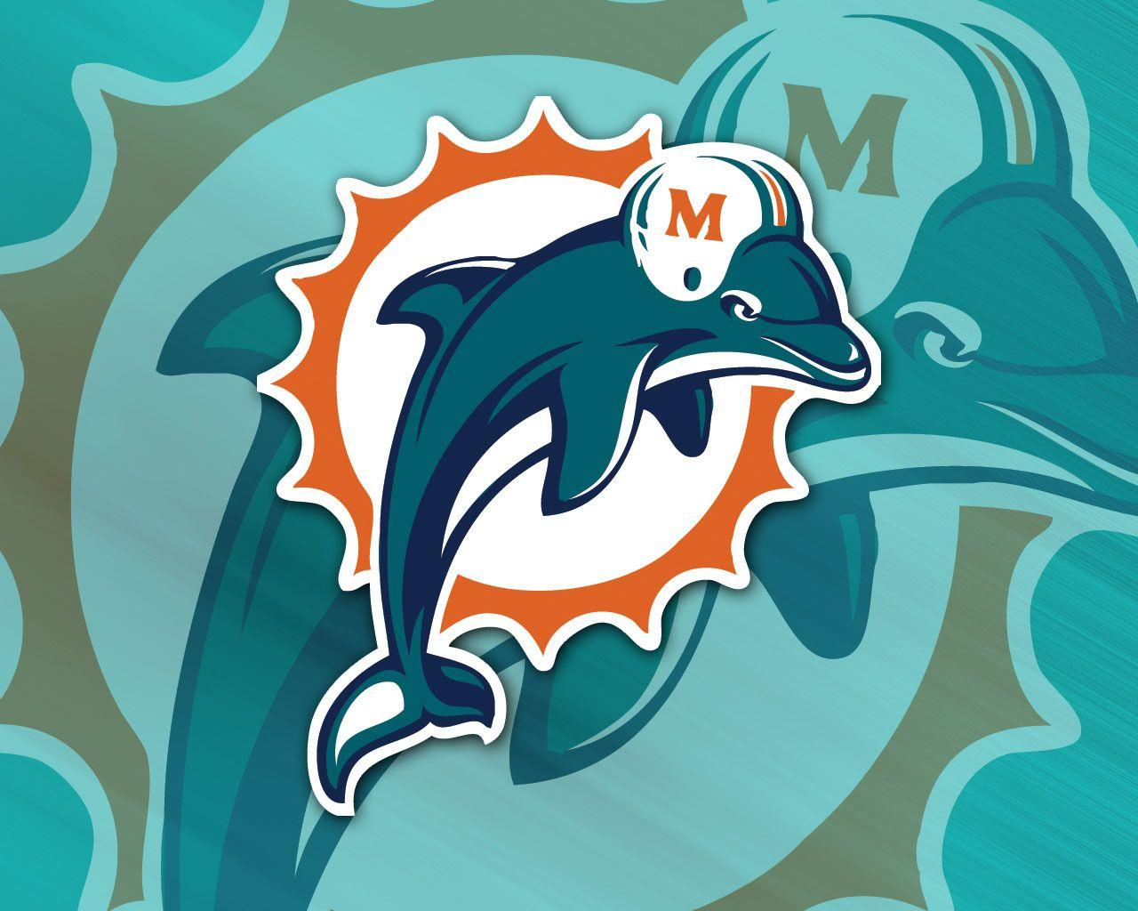Miami Dolphins Team Logo Wallpaper 1280x1024