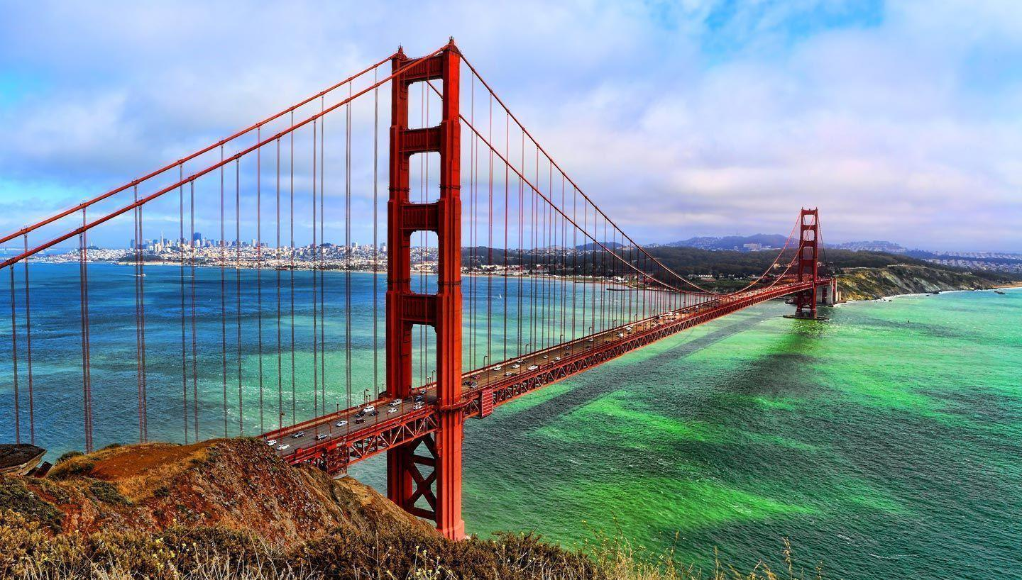 The Golden Gate Bridge Night View Wallpapers in jpg format for free