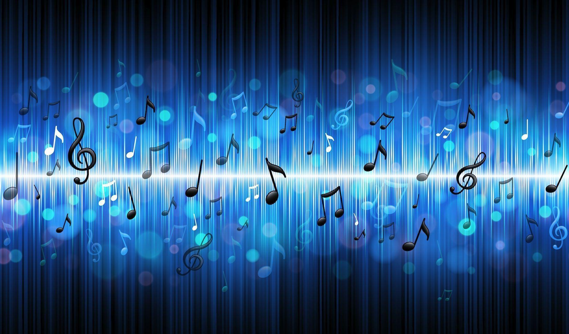 Music Backgrounds Music Desktop Background Free Premium: Blue Music Wallpapers