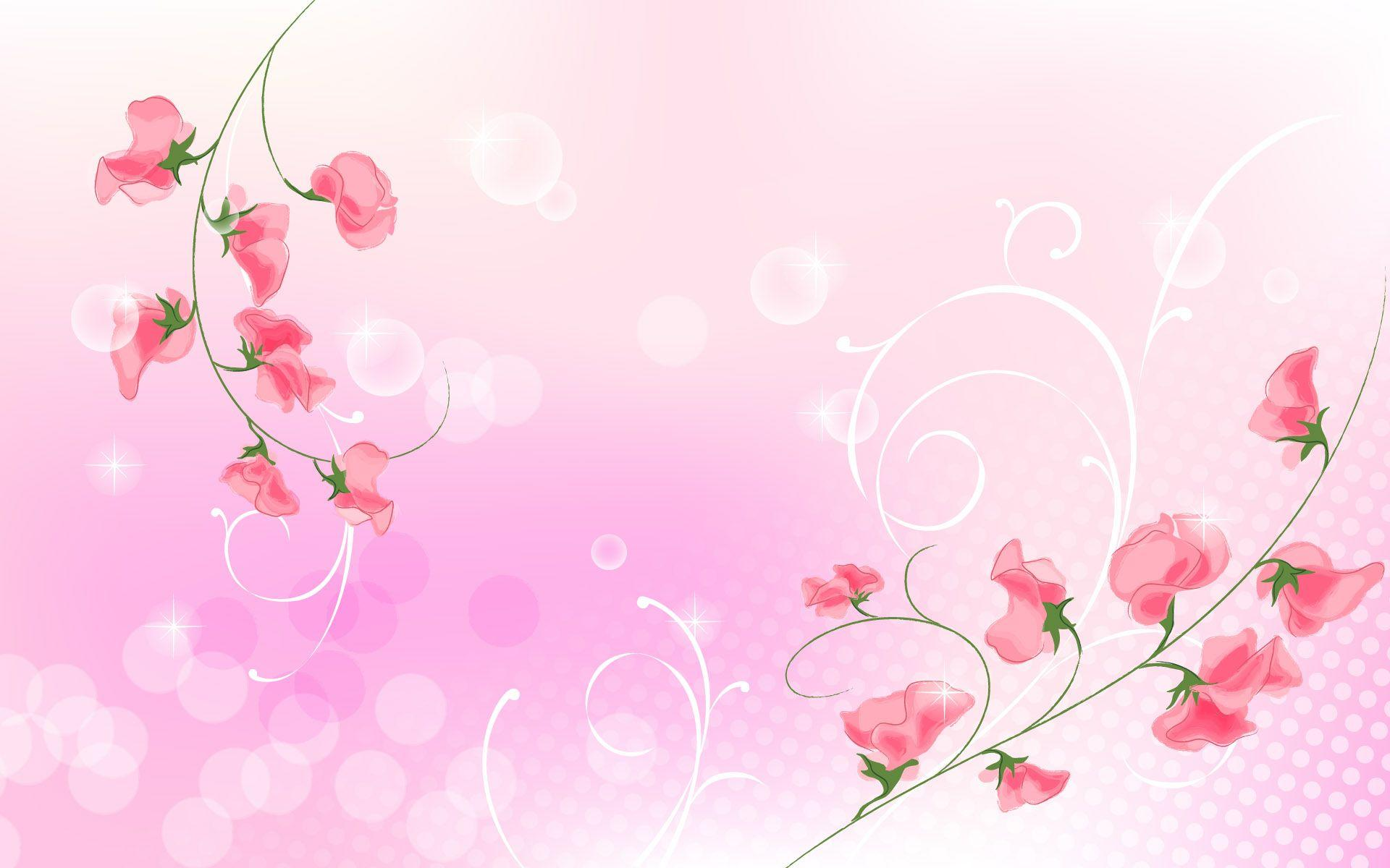 Wallpapers For > Light Pink Flowers Background