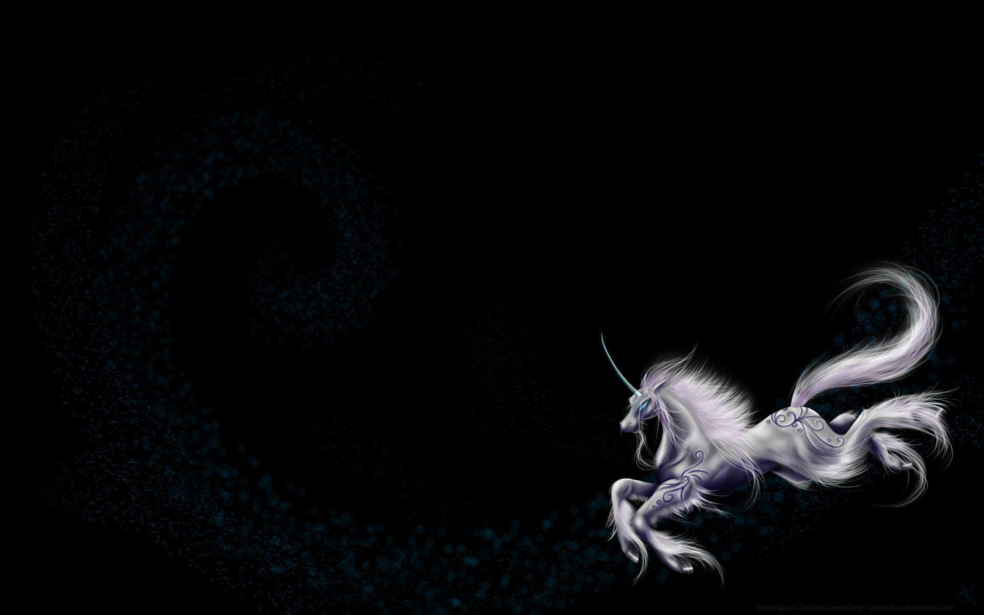 Black And White Unicorn Wallpaper Fantasy unicorn wallpapers ...
