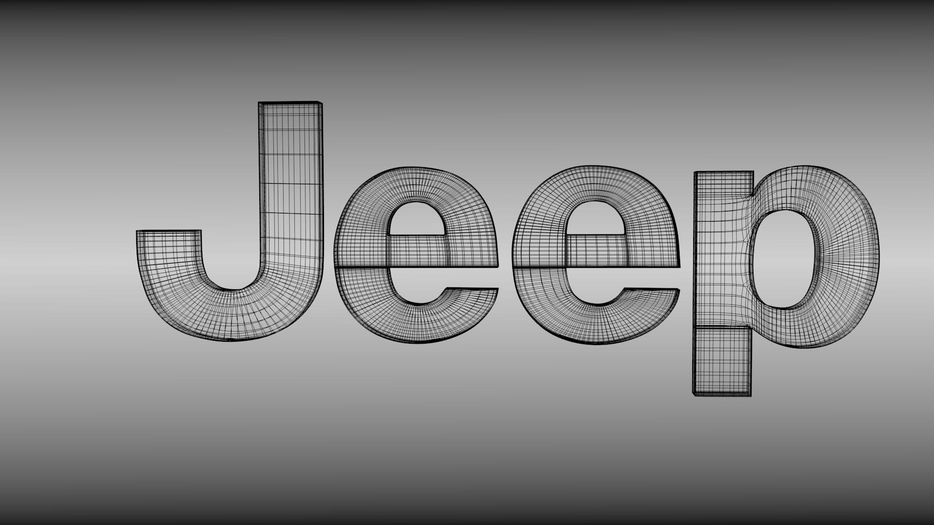 Jeep logo 3D Model .obj .blend - CGTrader.