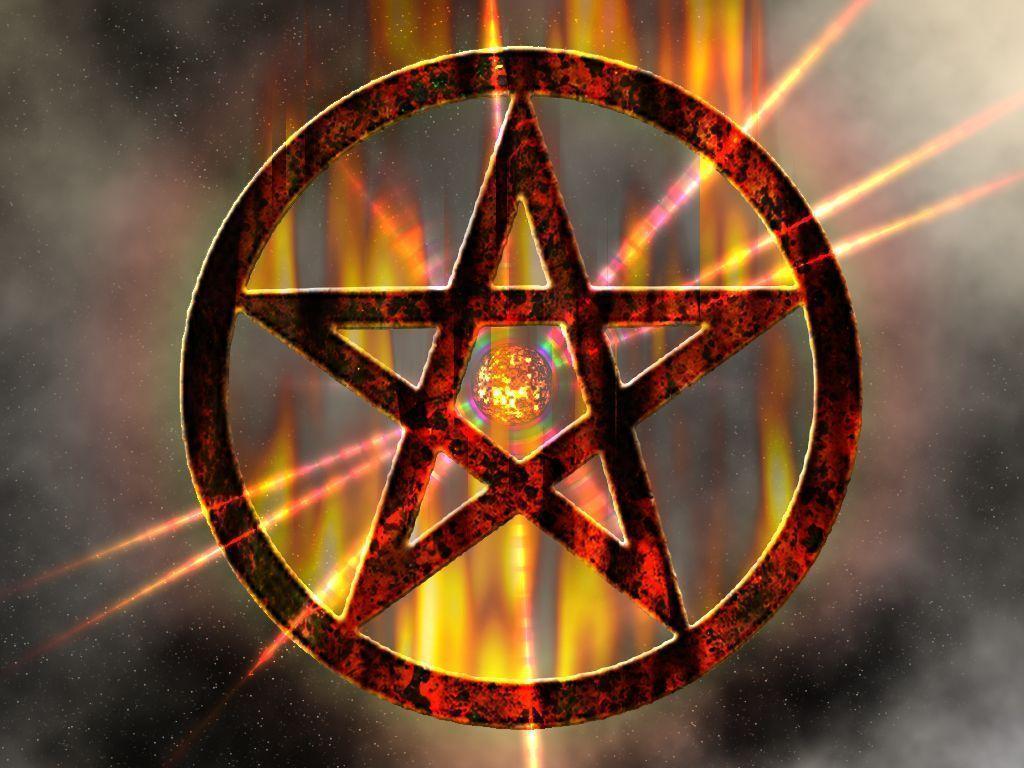 wiccan pentagram wallpaper - photo #12