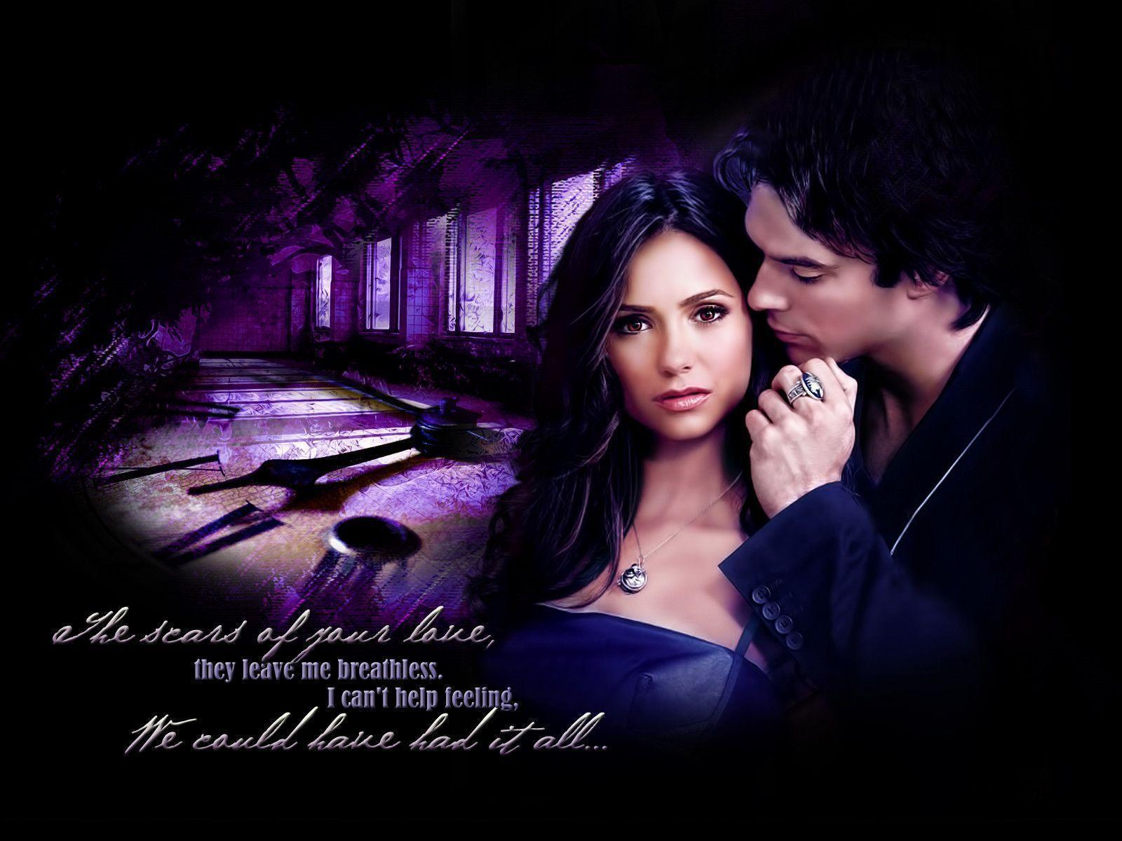 Damon And Elena Wallpa...