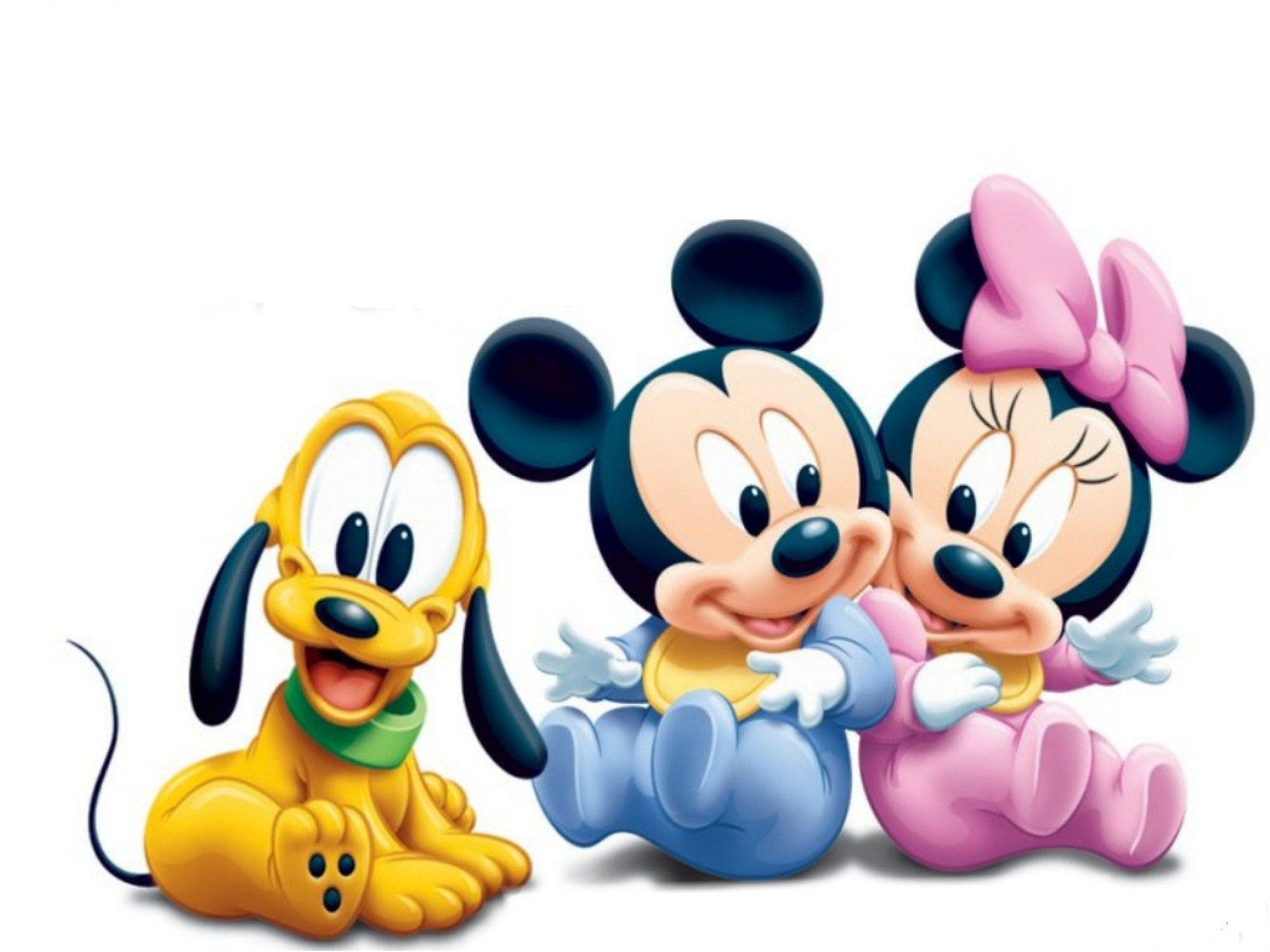 Baby Mickey Mouse, Goofy And Minnie Mouse Cartoon Wallpaper #1747 .