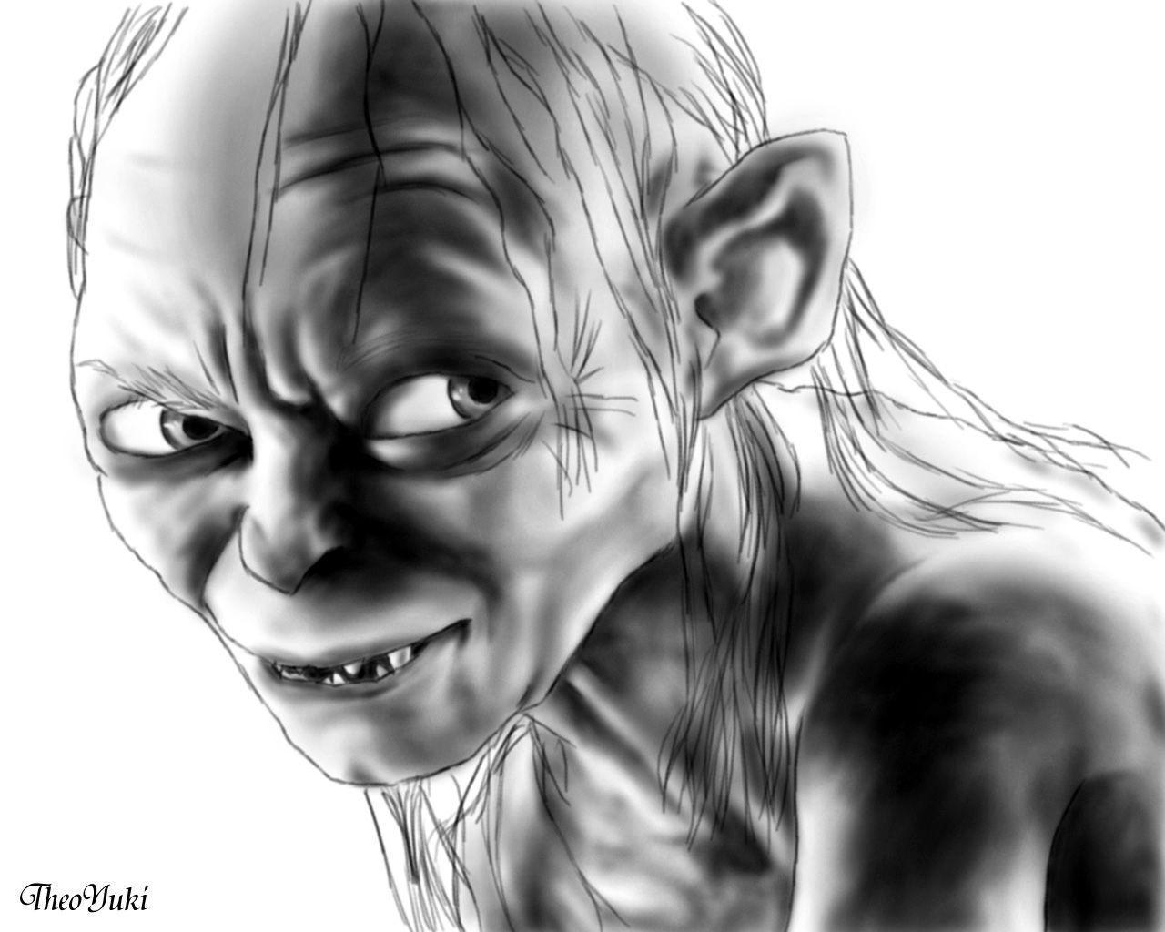 98 Sketch Wallpapers Wallpaper Cave Sketches Wallpapers: Gollum Wallpapers