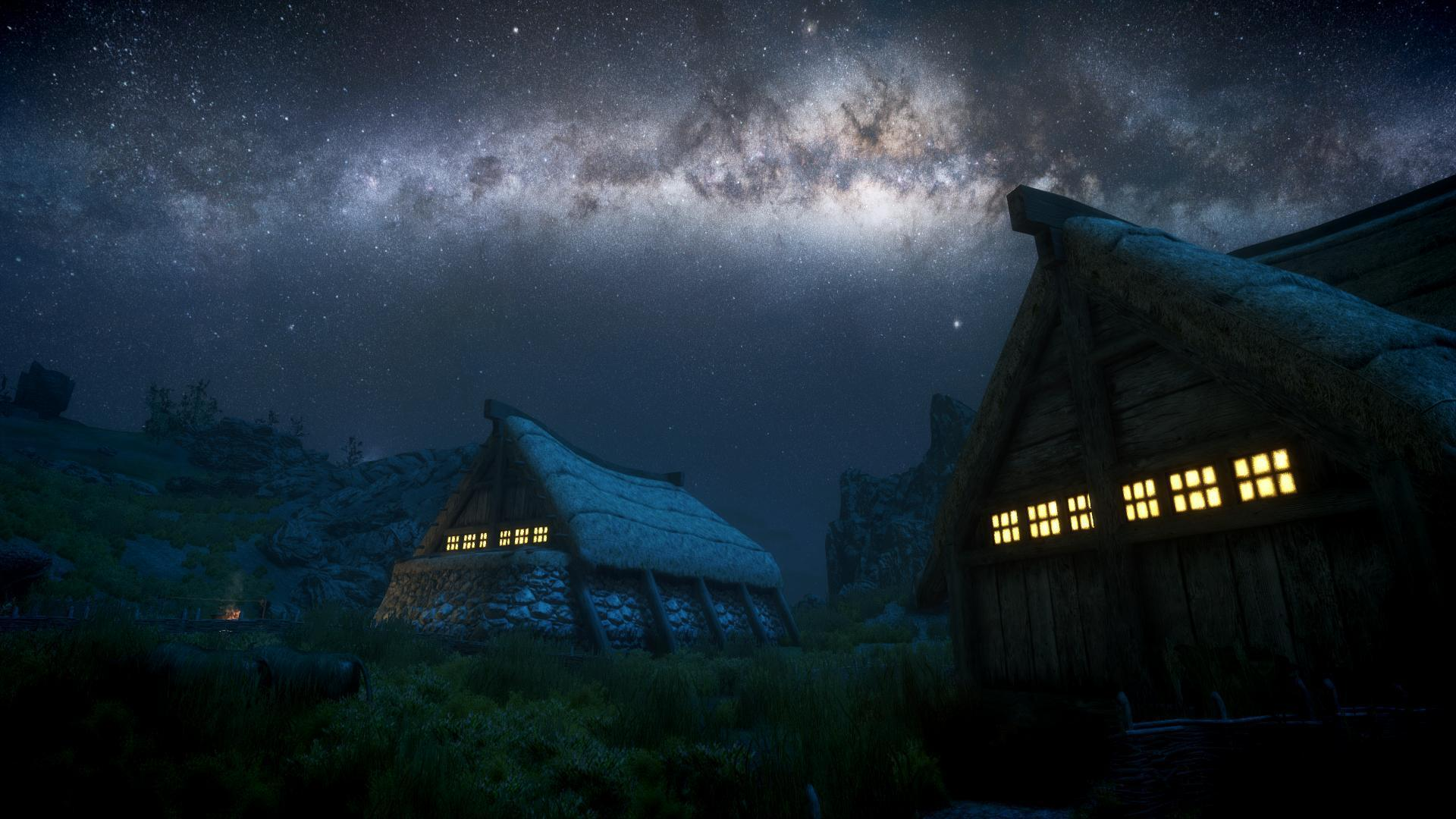 Skyrim Elder Scrolls Night Stars Galaxy Milky Way wallpaper ...