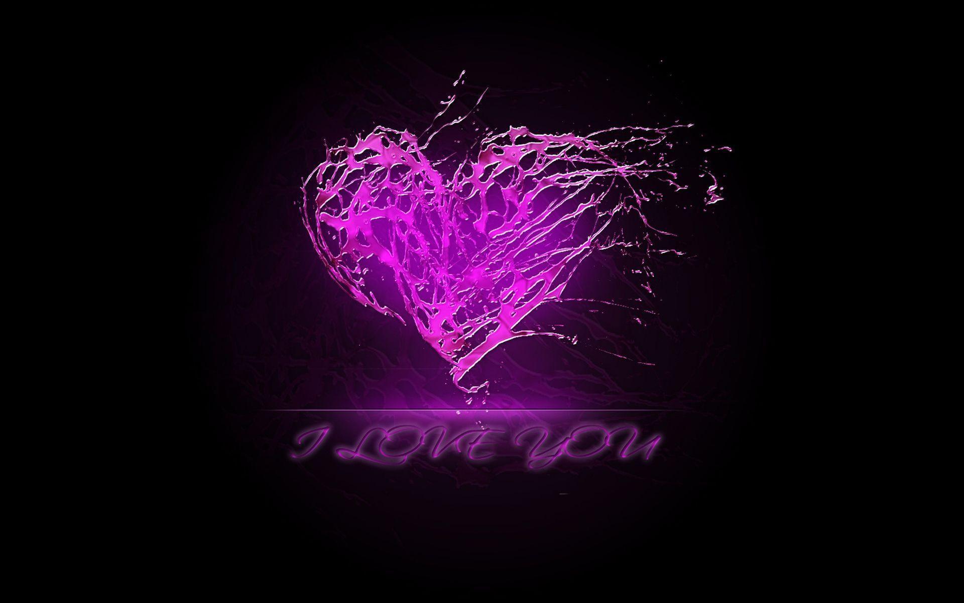 Purple Love Wallpaper