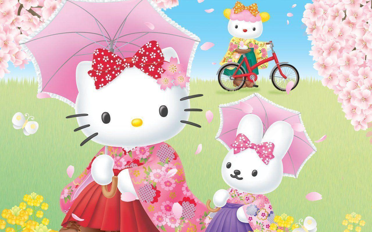 Hello kitty and friends wallpapers wallpaper cave - Wallpaper hello kitty full hd ...