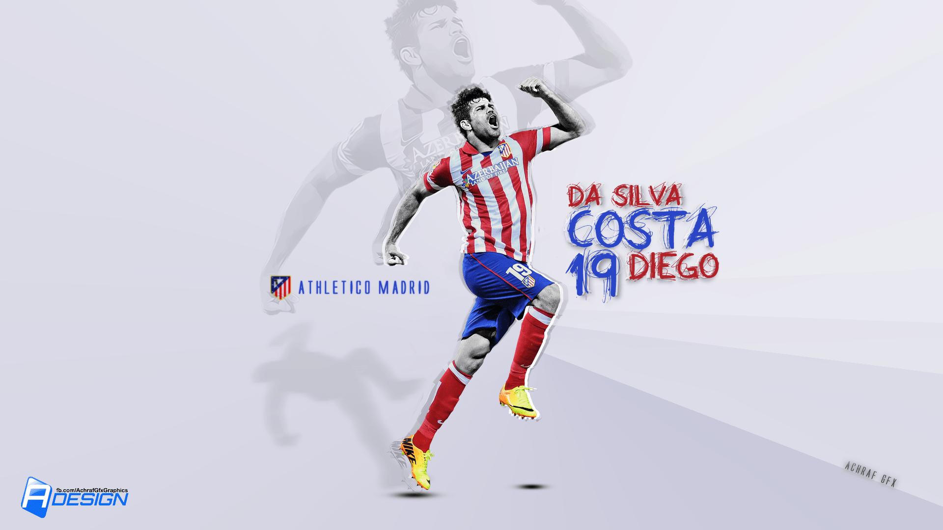 diego costa atletico madrid 2014 wallpaper | Desktop Backgrounds ...