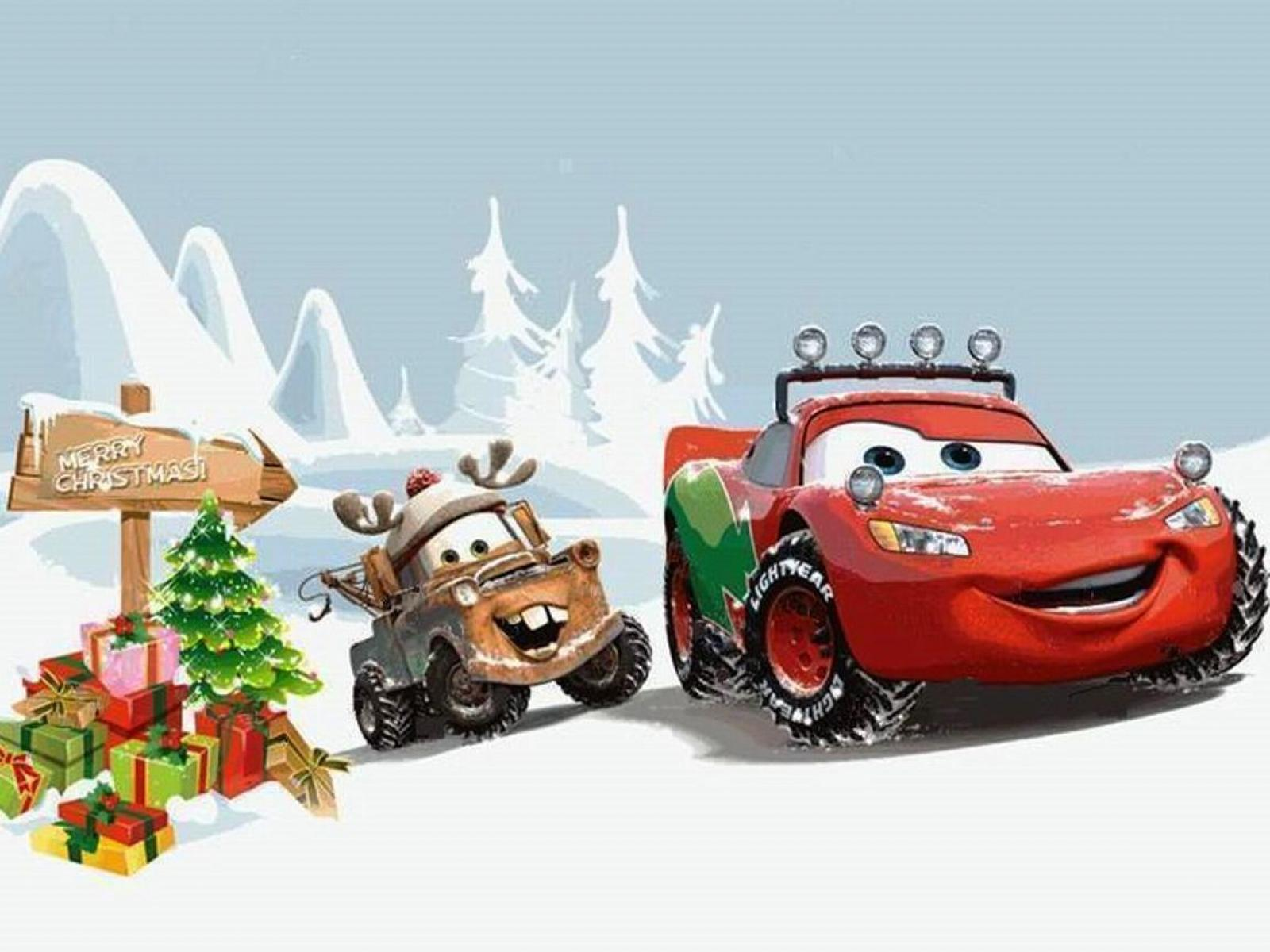 Cartoon Chritmas Cars (id: 184165) | WallPho.com