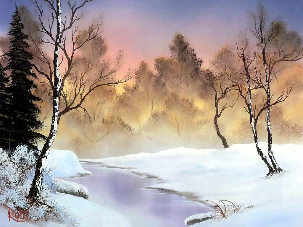 Winter scene free desktop backgrounds