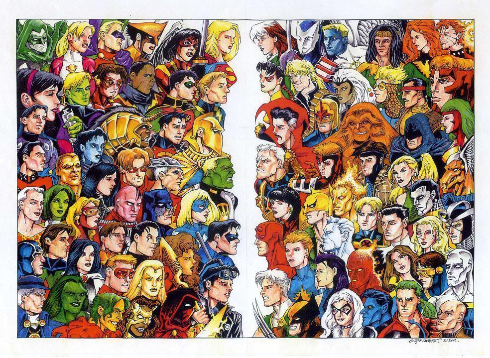 marvel dc wallpaper by - photo #13