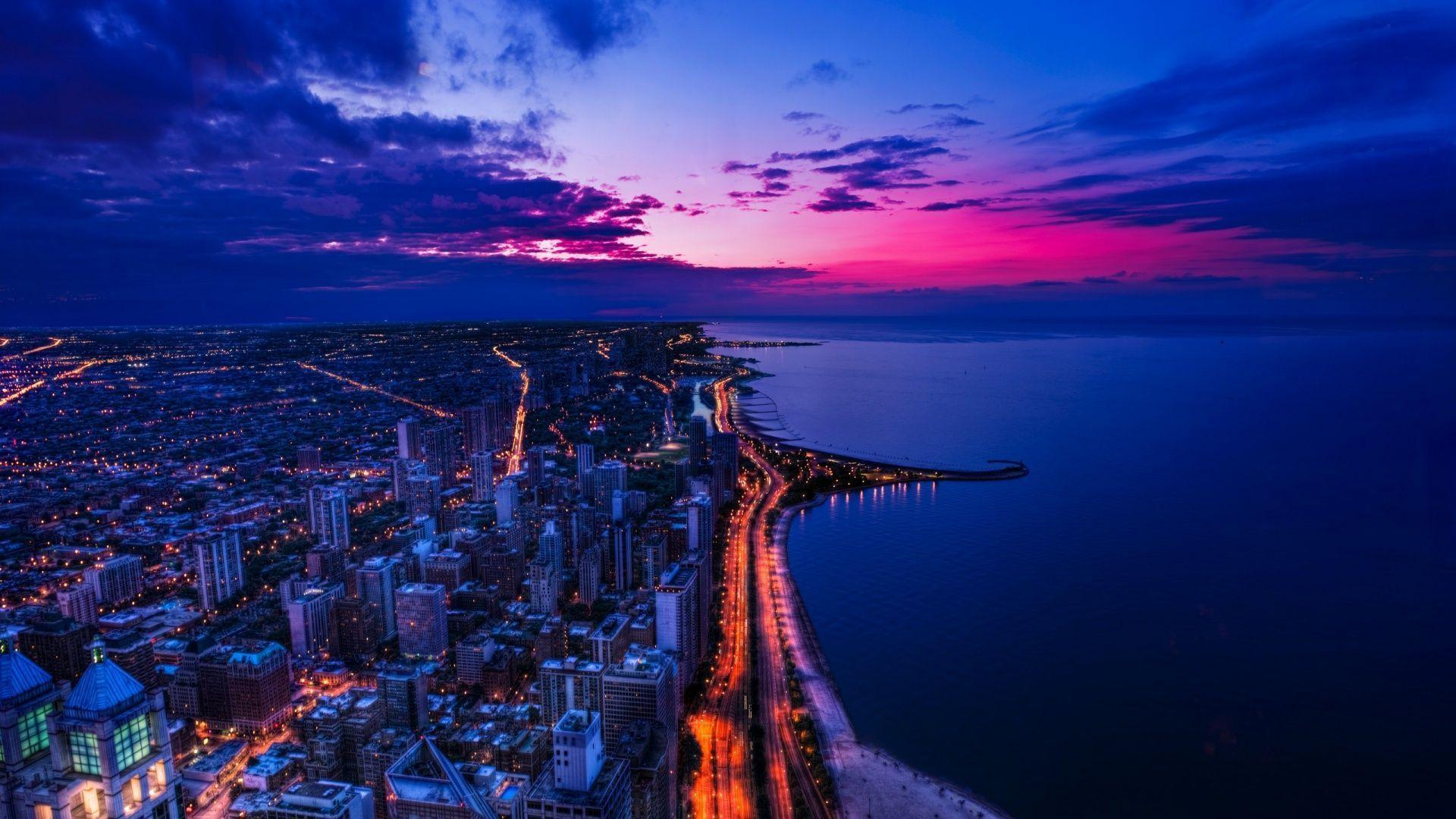 Chicago skyline wallpapers wallpaper cave chicago skyline wallpaper hd for desktop genovic voltagebd Gallery