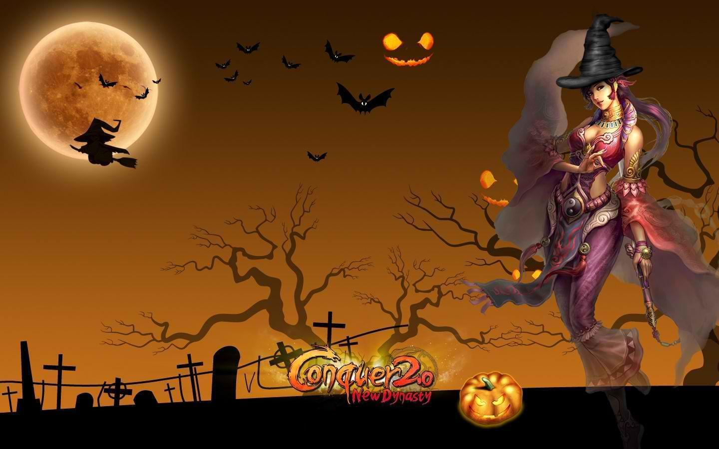 animated halloween wallpaper witches - photo #17