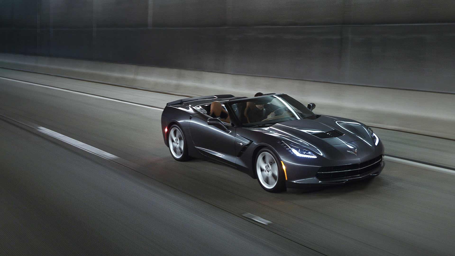 2015 Chevrolet Corvette Stingray Black Full HD Wallpaper 24198