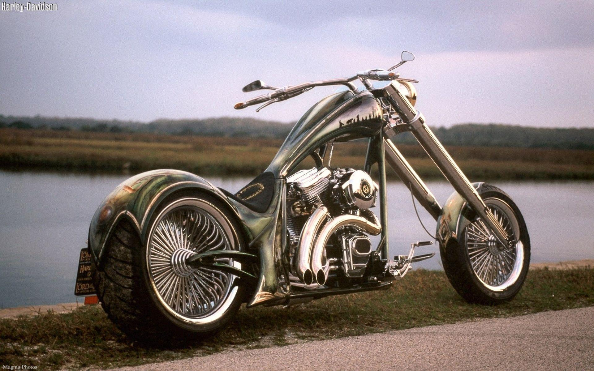 Cool Harley Davidson Chopper Exclusive HD Wallpapers #