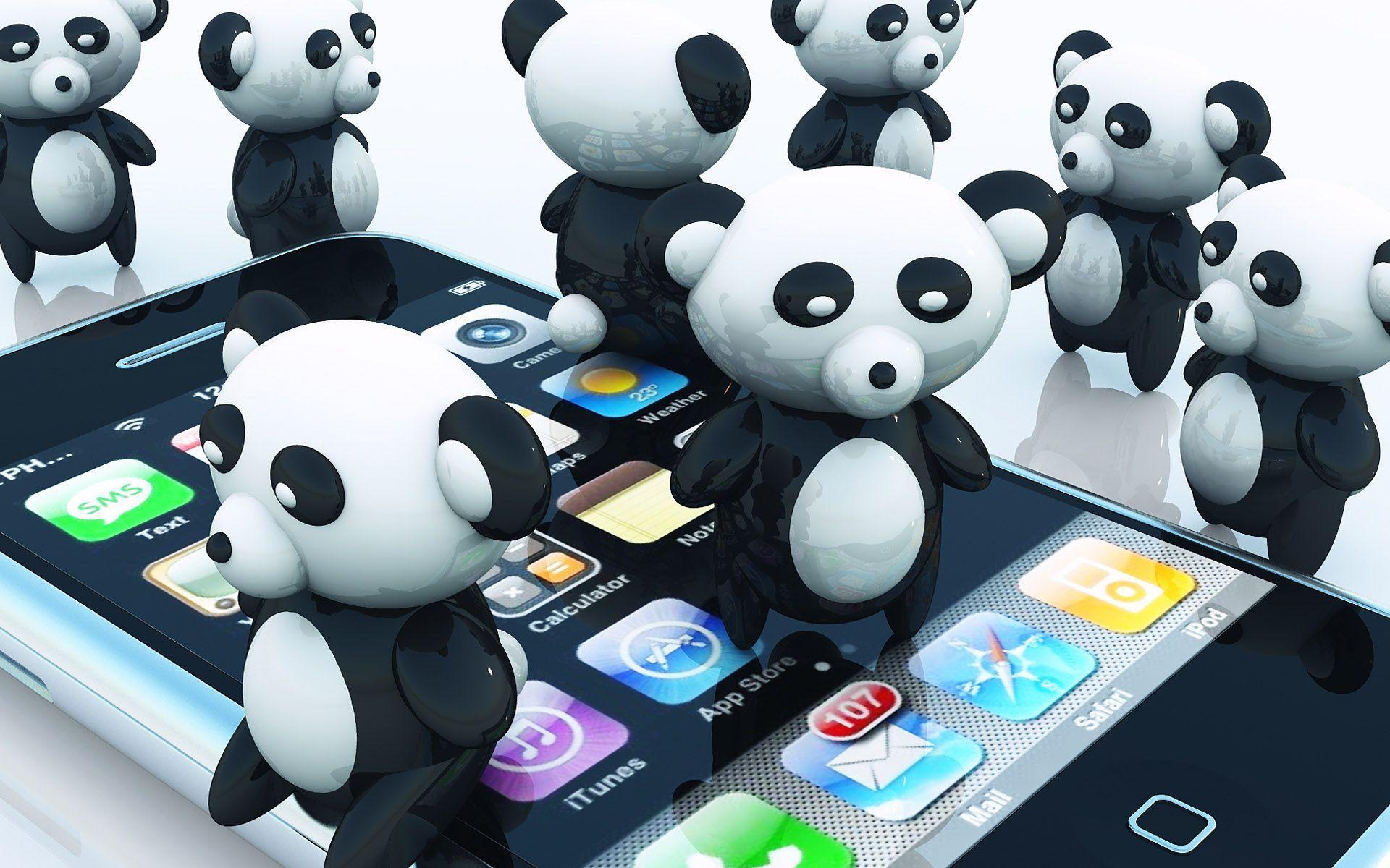 Giant Pandas Cartoon Wallpapers