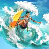 Anime Girl Surfing Wallpapers