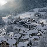 Winter Mountain Town Wallpapers
