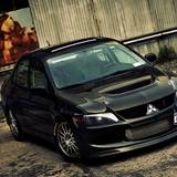 Mitsubishi Evolution 8 Black Wallpaper HD