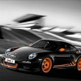 Porsche Gt3 Rs Black And Orange Wallpaper