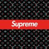 Cool Supreme Desktop Louis Vuitton Wallpapers