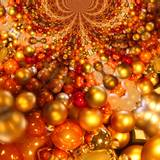 Orange Christmas Balls Wallpapers