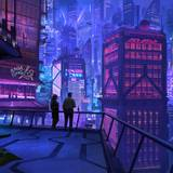 Anime Rooftops Building Night Wallpapers