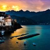 Italian Village Sunset Wallpapers