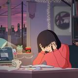 Anime Girl Studying Wallpapers