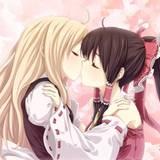 Anime Girls Kiss Wallpapers